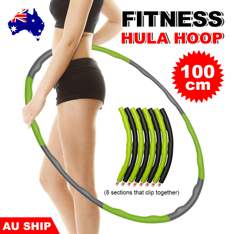 """1X 100CM Foam Padded Fitness Weighted Hula Hoop Massage Sliming Workout Ring 40/"""""""