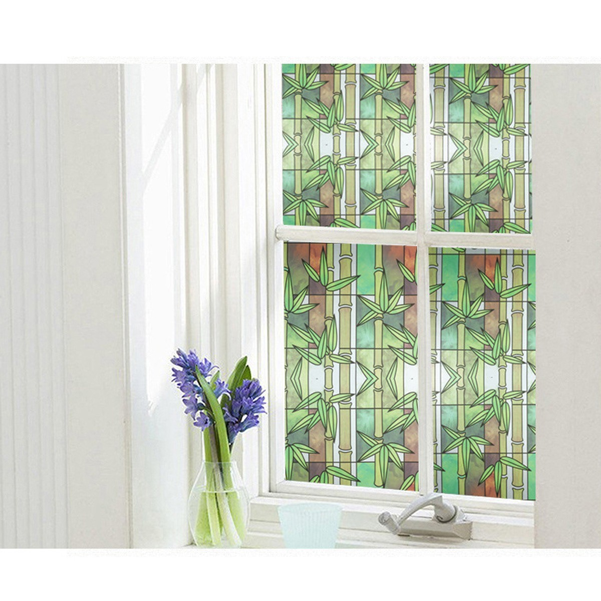 45*200cm Bamboo Window Film Privacy Stained Glass Film ...