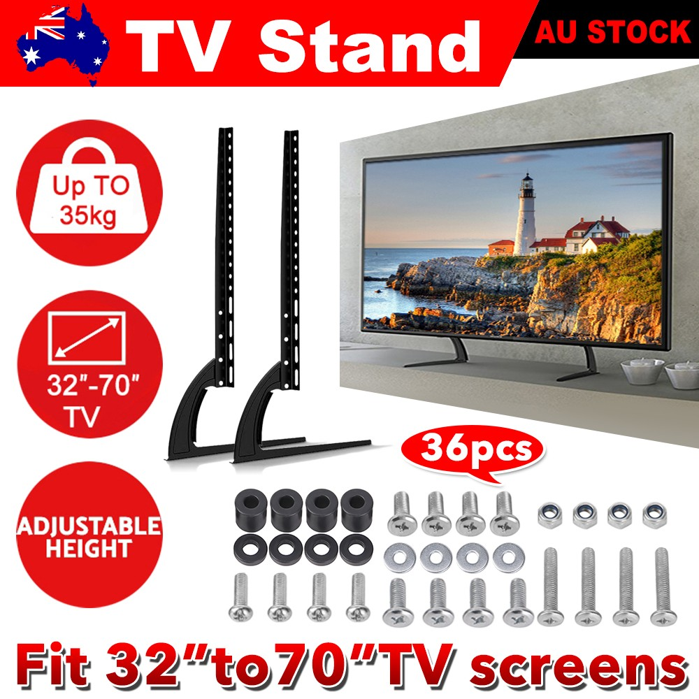 Details about Universal TV Stand LCD Flat Screen Table Top Legs Mount Base  Bracket for 32-70