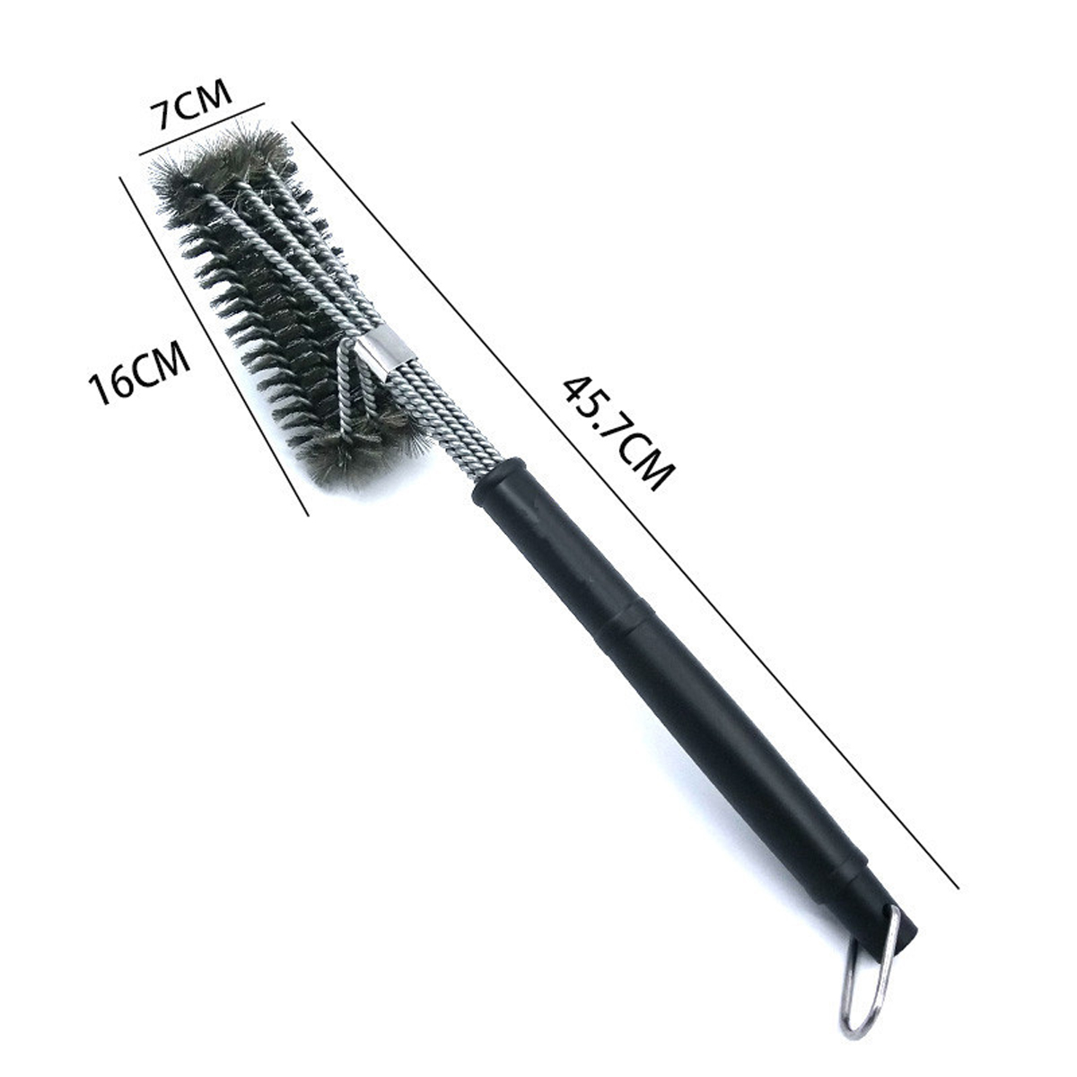 18 Bbq Grill Brush Cleaner Tools Cleaning 3 Sides Stainless Steel Bristle Ebay