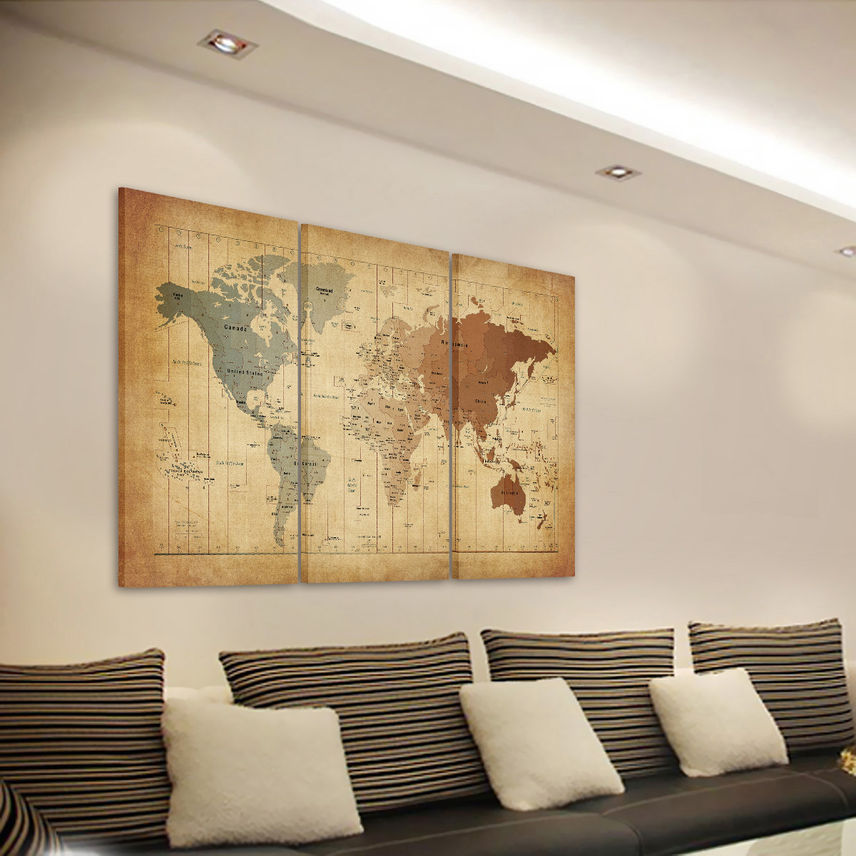 US Ready to Hang Modern Large Picture HD Canvas Prints Wall Art ...