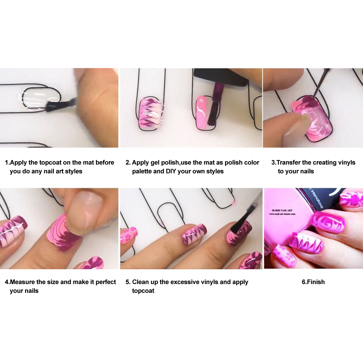 Nail Art Tips Polish Silicon Fairy Mat Stamping Plate Practice Pad ...