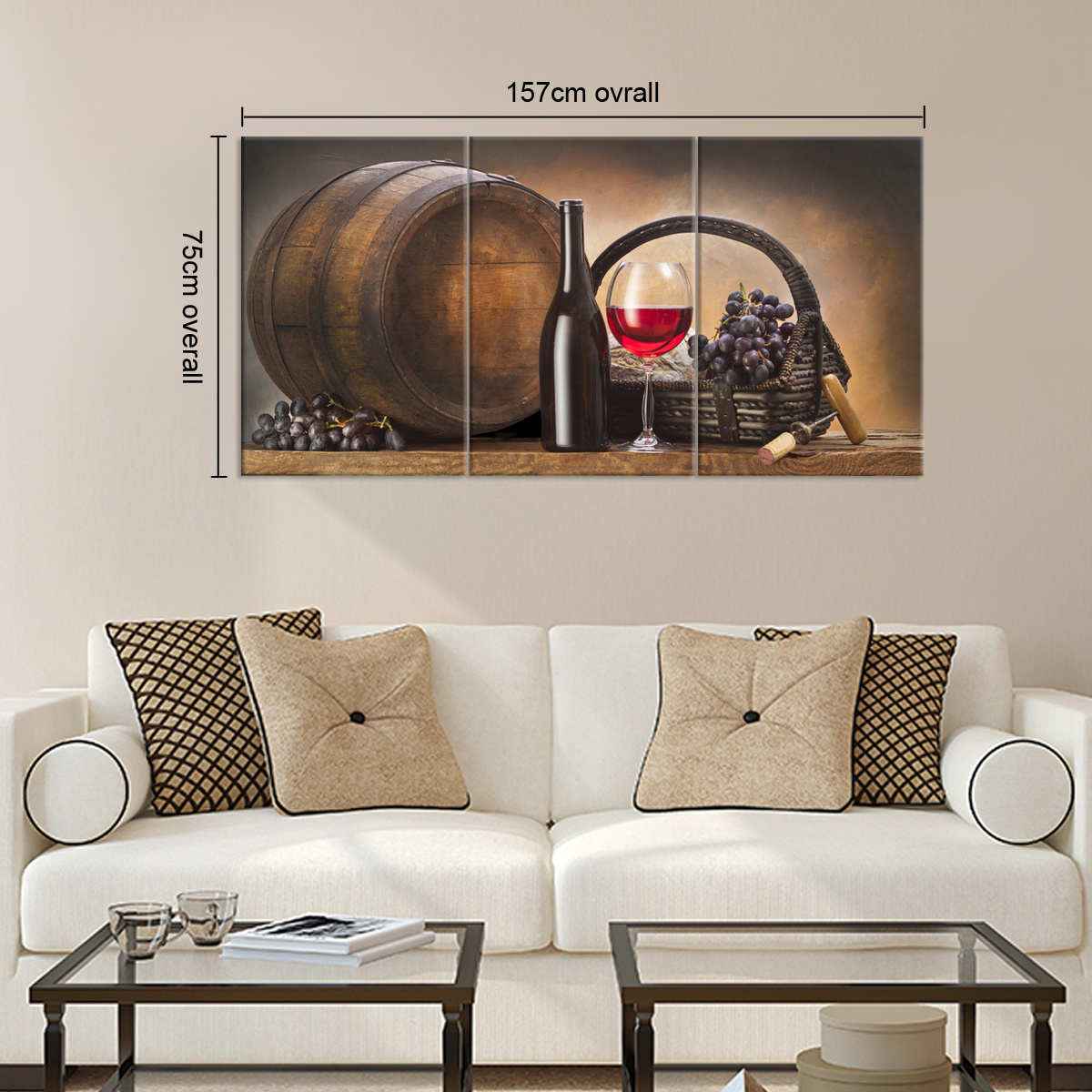 canvas prints modern dining room decor wall art picture