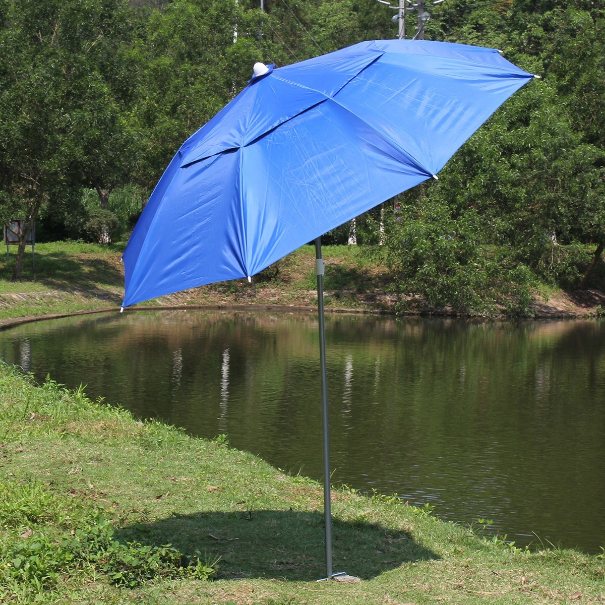 garden beach patio polyester umbrella tilt outdoor sun shade parasol cover crank. Black Bedroom Furniture Sets. Home Design Ideas