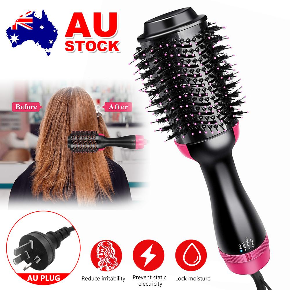 Details about One-Step Hair Dryer Brush Volumizer Hair Comb Hair  Straightener Curler 220-240V