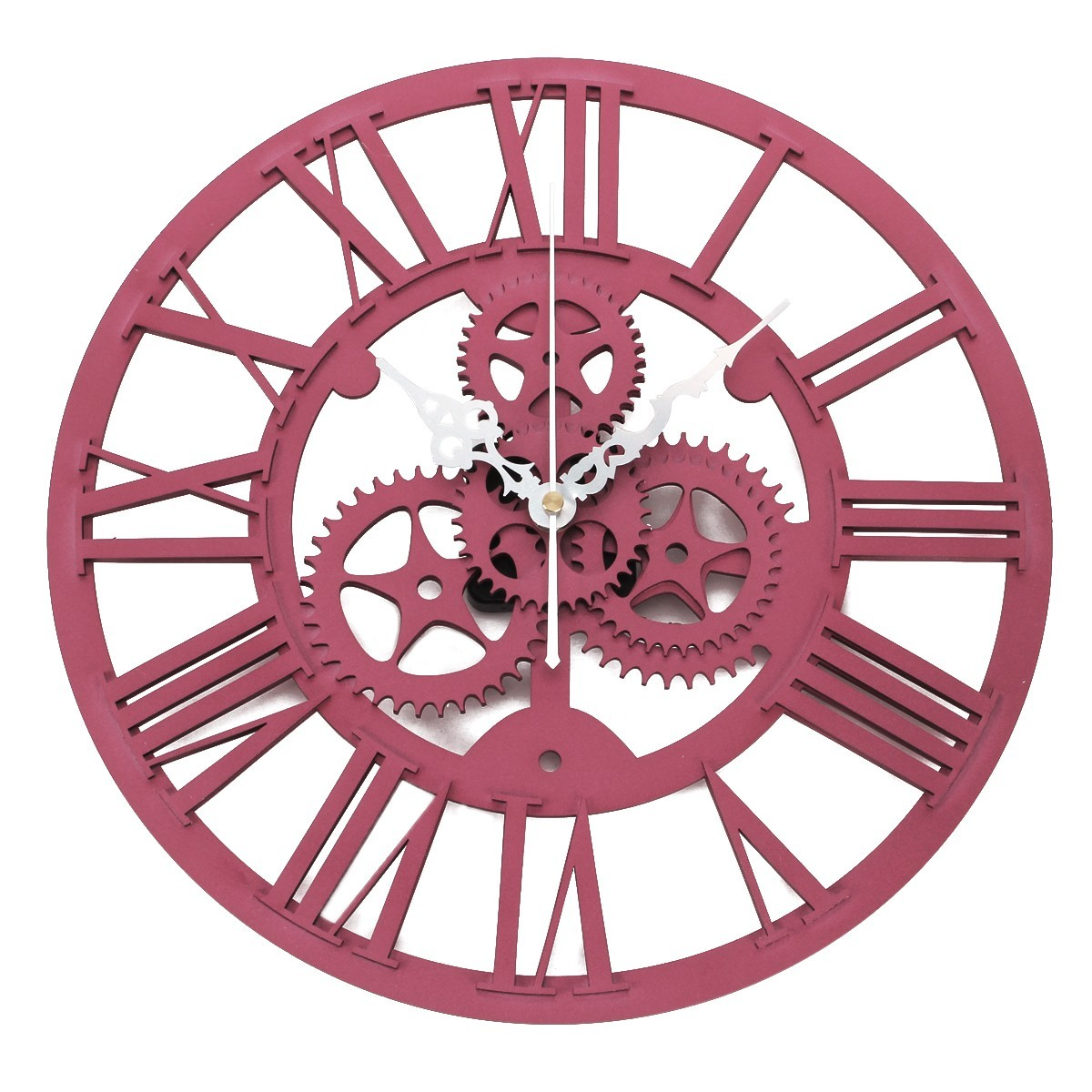 large wall clock mechanical big gear vintage mute art