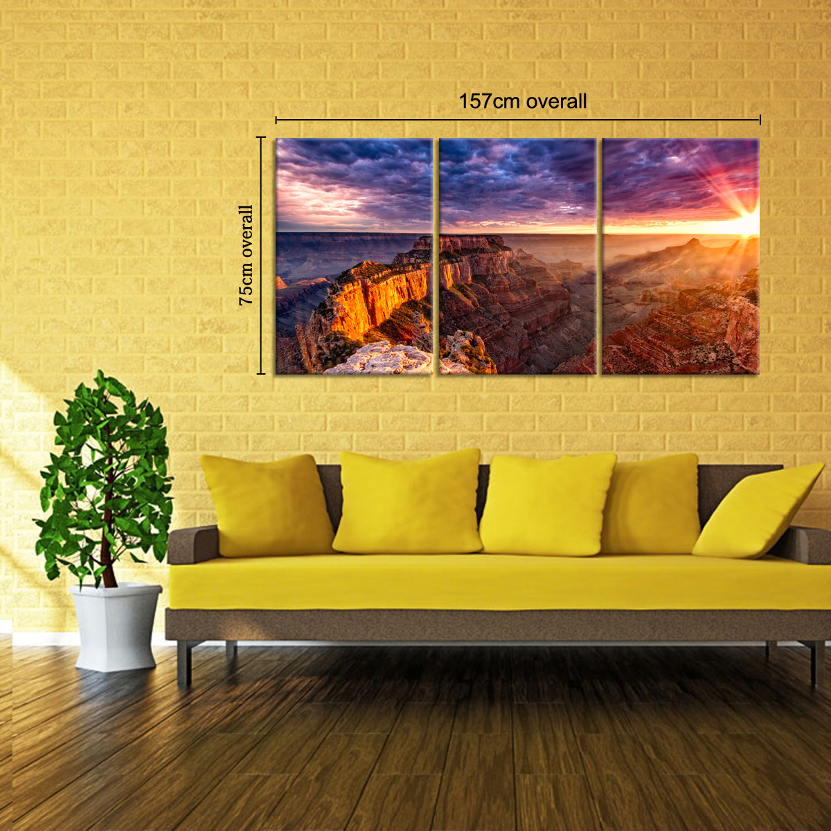 Large Grand Canyon Canvas Art Unframed HD Abstract Canvas Prints ...
