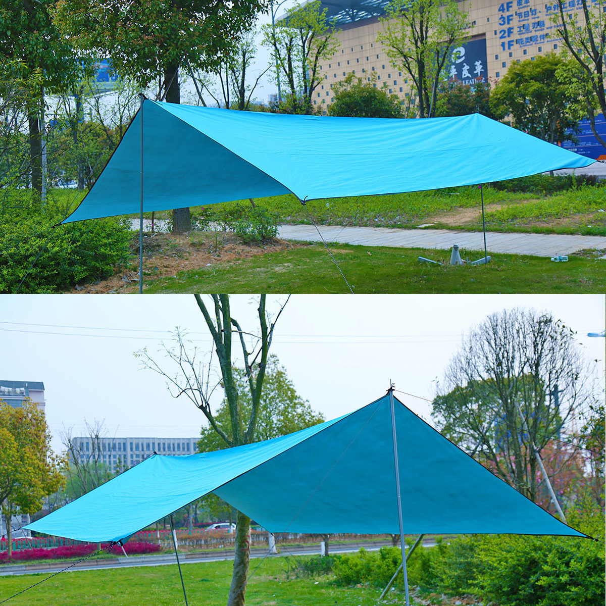waterproof sun shade sail tent for canopy hammock outdoor camping shelter 10 10 39 ebay. Black Bedroom Furniture Sets. Home Design Ideas